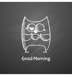 owl with cup vector image vector image