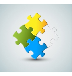 puzzle solution vector image vector image