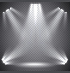 Scene illumination transparent effects vector