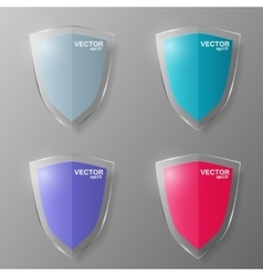 Set of glass shields vector