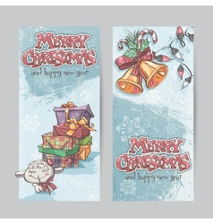 Set of vertical banners with the image of vector image vector image