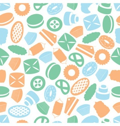 sweet desserts colorful pattern eps10 vector image