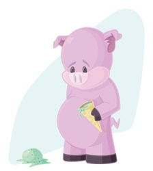 The Sad Pig vector image vector image