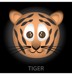 Tiger cartoon character head eps10 vector