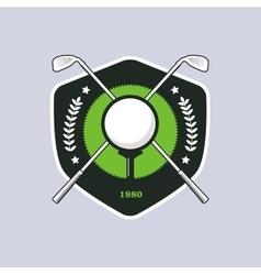 Vintage color golf badge vector