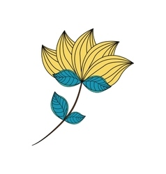 Flower leaf garden icon graphic vector