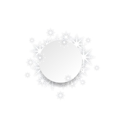 Abstract christmas snowflakes background vector
