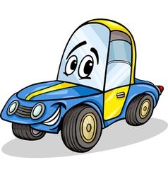 Funny racing car cartoon vector