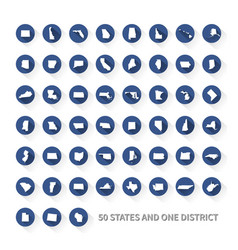 united states of america 50 states and 1 federal vector image