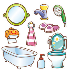 bathroom element vector image