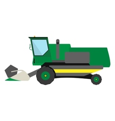 Obsolete green harvester vector