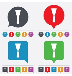 Spatula sign icon wall repair tool symbol vector