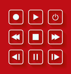 Media player control buttons vector