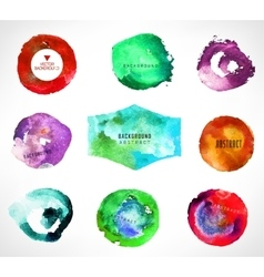 Set of watercolor background vector
