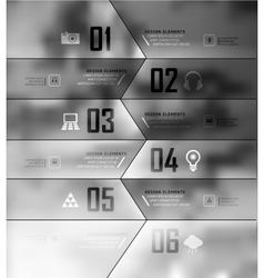 Blur business step transparent and shadows options vector