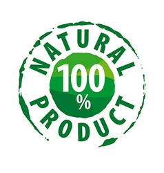 Round logo for 100 natural products vector