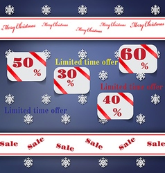 Christmas sale background with labels vector