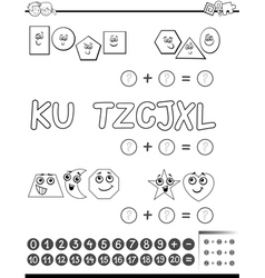 Maths activity for coloring vector