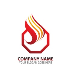Eternal fire abstract logo icon template vector