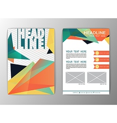 Abstract brochure template business triangle vector