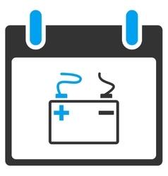 Accumulator calendar day toolbar icon vector