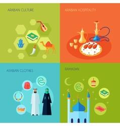 Arabic culture flat vector