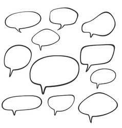 Cartoon speech and thought bubbles vector