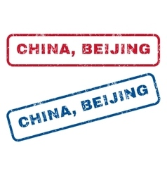 China beijing rubber stamps vector