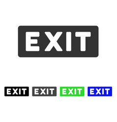Exit label flat icon vector