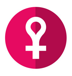 Female gender symbol icon shadow vector