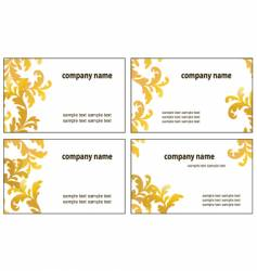 four variants of greeting cards vector image vector image