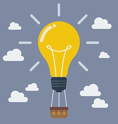 Idea lightbulb balloon vector image