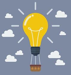 Idea lightbulb balloon vector