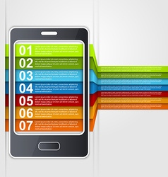 Infographic smartphone design concept vector image vector image