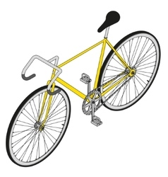 isometric fixed gear bicycle vector image vector image