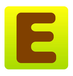 letter e sign design template element vector image