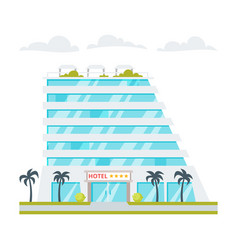 Luxury hotel building vector