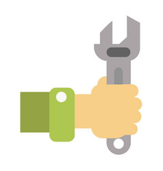 Man with wrench for maintenance vector