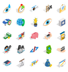 Medical training icons set isometric style vector