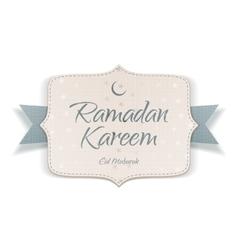 Ramadan kareem eid mubarak textile card vector