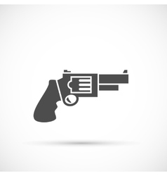 Revolver pistol icon vector