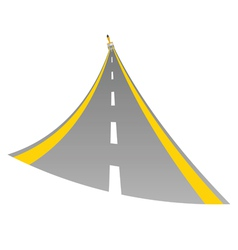 road with paint brush color vector image