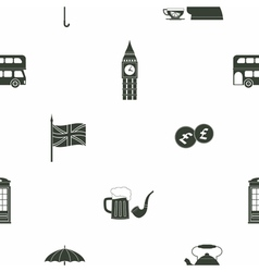Seamless pattern with england icons vector
