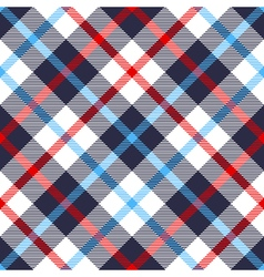 Seamless tartan plaid pattern in blue red and vector
