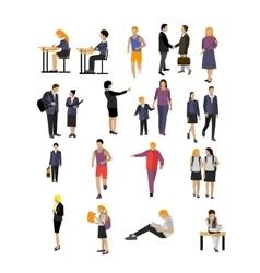 Set of pupils and teachers in school vector