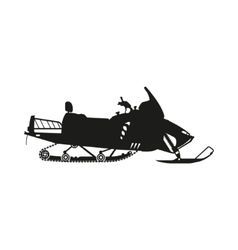Silhouette of a snowmobile on a white background vector