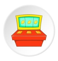Slot machine icon flat style vector