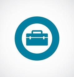 Tools box icon bold blue circle border vector