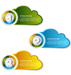 1 2 3 option cloud banner vector