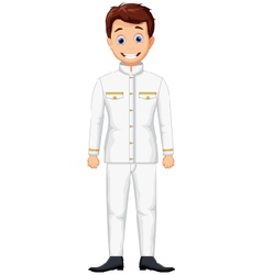 cute ship captain cartoon vector image